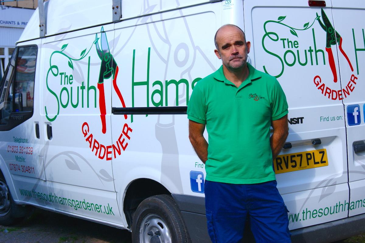 Ian with his van
